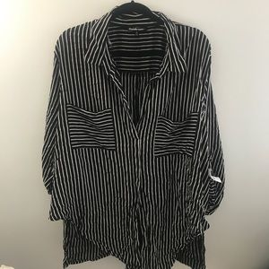 Charlotte Russe Plus NWT Striped Shirt